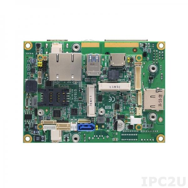 Q7B301 Базовая плата Q7 с LVDS/HDMI, 2xGbE LAN, 2xCOM, 1xUSB 2.0, 2xUSB 3.0, SATA-600, 2xPCI Express Mini, HD Audio, SIM, DIO, I2C, SMBus