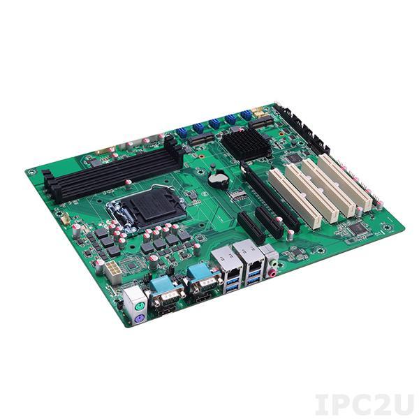 IMB500VHGGA Процессорная плата ATX Socket LGA1151 Intel Core i7/i5/i3/Celeron, Intel Q170, 4x288-pin DIMM DDR4, 6xCOM, 4xUSB 3.0, 8xUSB 2.0, 2xGbE LAN, Display Port, HDMI, VGA, 5xSATA-600, RAID, mSATA, 1xPCIe x16, 2xPCIE x4, 4xPCI, 1xMini-PCIe, слот SIM