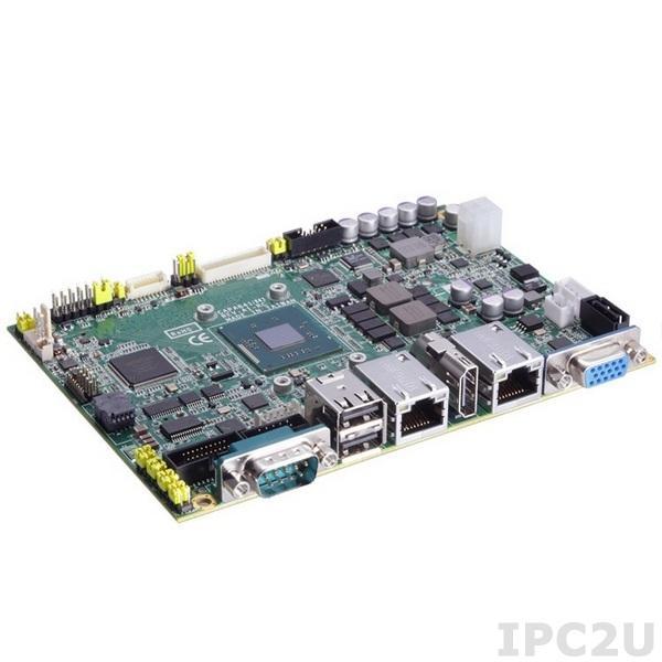 "CAPA842VHGGA-N2807 Процессорная плата формата 3.5"" с Intel Celeron N2807 1.58ГГц, DDR3L SO-DIMM, VGA/LVDS/HDMI, 2xLAN, 4xCOM, 4xUSB, слот для SIM карты, Audio, 2x mini-PCIe"