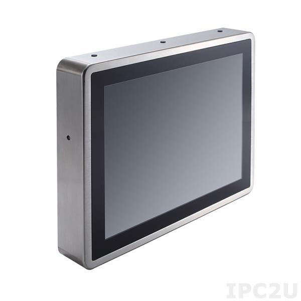 """GOT-812L-880-R-DC Защищенный безвентиляторный панельный компьютер, корпус IP66, 12.1"""" XGA дисплей 420 нит, резистивный сенсорный экран, Intel Core i5-4300U 1.9ГГц, 1x204-pin DDR3L, 1x2.5"""" SSD, 1xCF слот, 2xCOM, 4xUSB 2.0, 1xGbe LAN, 2xPCle Mini Card, питание 9-36В DC"""