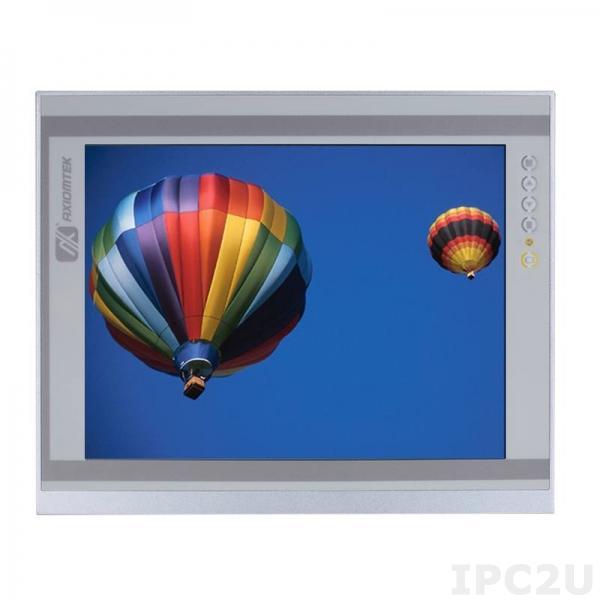 """P6171PR-24VDC-U-E-DP 17"""" TFT LCD LED монитор, 1280x1024, яркость 250 нит, резистивный сенсорный экран (USB), VGA, Display Port, HDMI, питание 12-24В DC, рабочая температура от -20C"""