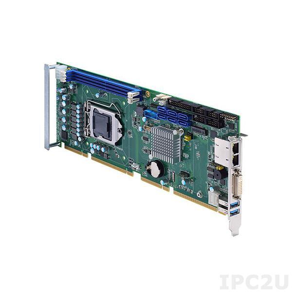 SHB150DGG-Q370 w/PCIe x4 Процессорная плата PICMG 1.3, сокет LGA1151 для Intel Core i7/i5/i3, Intel Q370, до 32Гб DDR4, DVI-I/DP, 2xGbE LAN, 2xRS-232, 2xRS-232/422/485, 6xUSB 3.1, 6xUSB 2.0, 6xSATA-600, M.2 2280 Key M, LPT, Audio