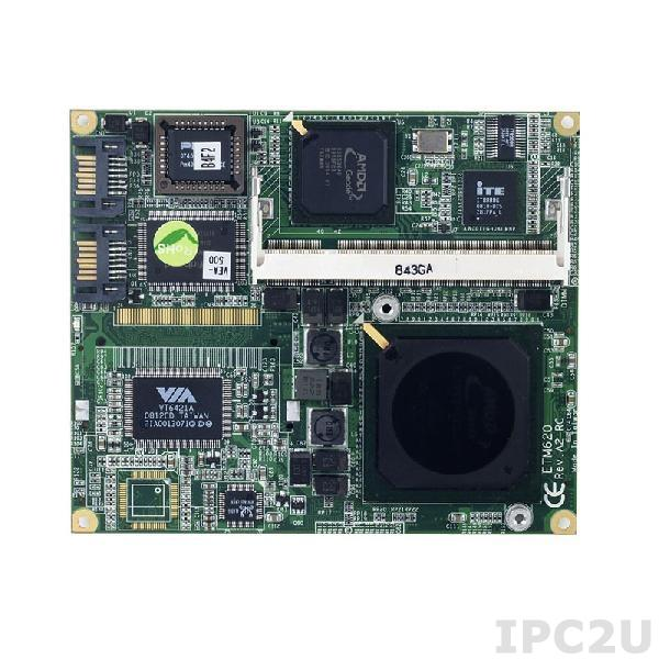 ETM620VEA-500-ET Процессорный модуль ETX 3.0 с AMD Geode LX800, CS5536AD + ITE8888G, DDR, VGA, TTL, 2xIDE, LPT, 2xCOM, 2xPS/2, 2xSATA, 1xLAN, 4xUSB, Audio, -40...+85C