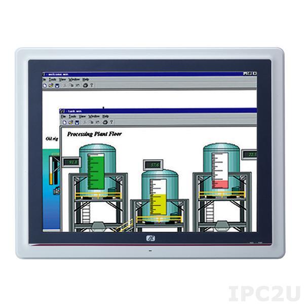 "GOT-5152T-845-J Безвентиляторный панельный компьютер, 15"" XGA дисплей, резистивный экран, Intel Celeron N3060 до 2.48ГГц, 1x слот DDR3L SO-DIMM, отсек 2.5"" SATA HDD, mSATA, HDMI, 2xGB LAN, 2xCOM, 2xUSB 3.0, 2xUSB 2.0, 2xPCIe Mini, DIO, Audio, AC-DC адаптер 60Вт"