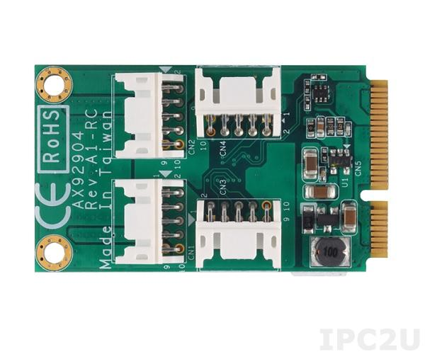 AX92904 Full-Size Mini PCI Express c 32-бит программируеммым DIO и поддержкой 8-бит TTL, питание 5В, с брекетом и кабелем (DB44)
