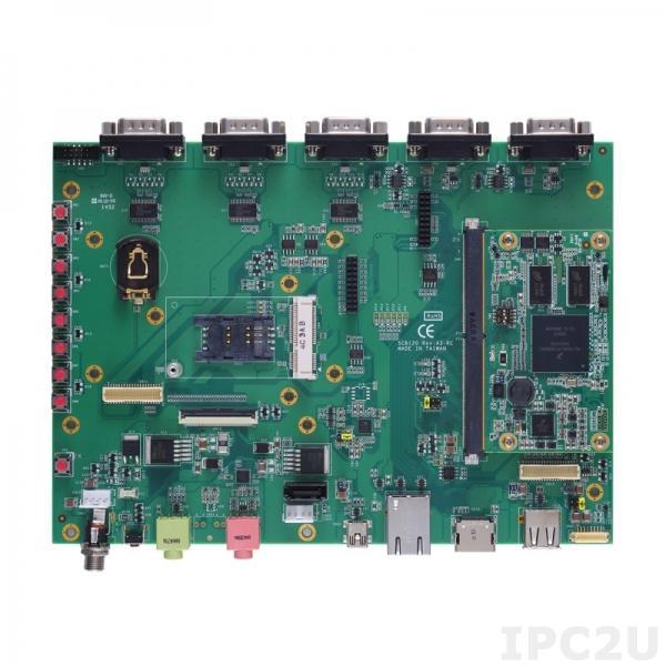 SCM120-120-EVK-DualLite-I Процессорная плата SMARC v1.0 SoM с процессором DualLite 800МГц SoC, 1Гб RAM, 4Гб eMMC, Gigabit Ethernet, CAN, MIPI, PCAM, BSP