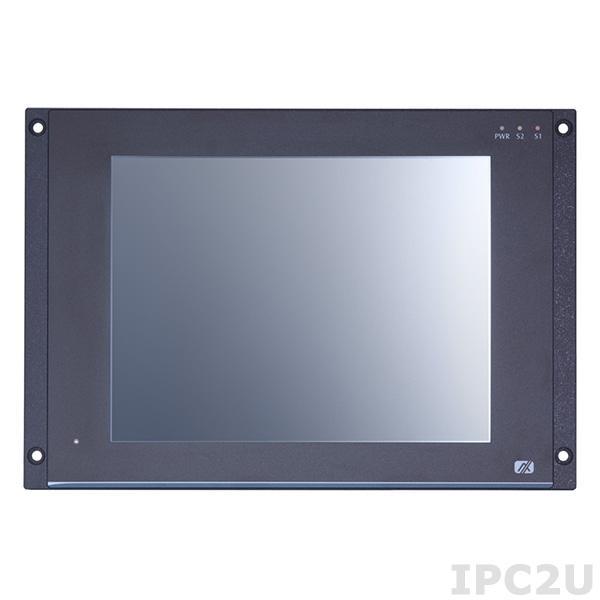 """GOT-710-837-R-E3845-24VDC Безвентиляторный панельный компьютер для железнодорожного транспорта 10.4"""" SGVA, резистивный сенсорный экран, Intel Atom E3845 1.9ГГц, 4Гб DDR3, 16Гб flash, 1xmSATA, 2xCOM, GB LAN, 2xUSB 2.0, 2xPCIe Mini, CAN, DIO, Audio, питание 24В DC, -25...+70C"""