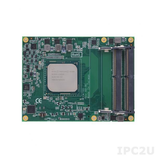 CEM700-D1508 Процессорная плата COM Express Type 7 с Intel Pentium D1508 2.2/2.6GHz, DDR4 ECC, 1x10/100/1000 LAN, 2x10GBASE-KR LAN, 2xCOM, 4xUSB 3.0, 4xUSB 2.0, 2xSATA-600, 1xPCIe x16, 1xPCIe x8, 8xPCIe x1, I2C, LPC, SPI, TPM 2.0, SMBus