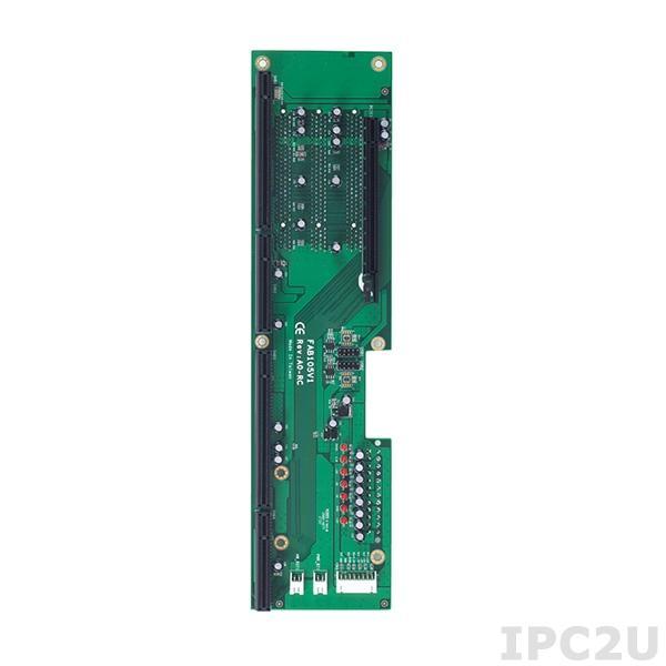 FAB105-V1-RC Объединительная плата PICMG 1.3, 5 слотов, 1xPICMG, 1xPCIex16, 3xPCI, установка в корпус 2U