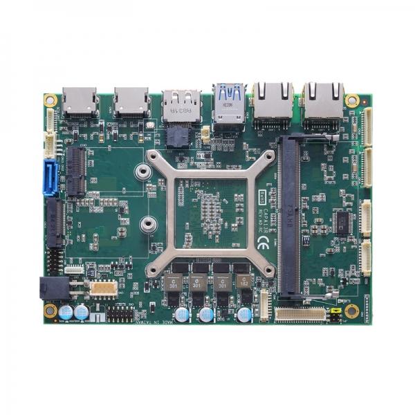 "CAPA13RPH4G-V1605B Процессорная плата формата 3.5"" с AMD RYZEN V1605B 2.0-3.6ГГц, DDR4, DisplayPort, 2xHDMI, LVDS, 4xGbE LAN, 2xCOM, 2xUSB 3.1, 2xUSB 2.0, SATA-600, M.2 Key-B, DIO, Audio"