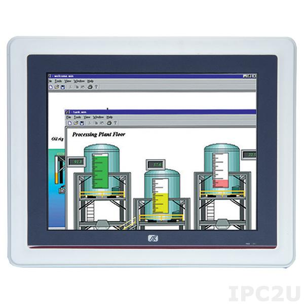 "GOT-5120T-845-24VDC Безвентиляторный панельный компьютер, 12.1"" SVGA, резистивный сенсорный экран, Intel Celeron N3060 до 2.48ГГц, DDR3L, HDMI, 2xGB LAN, 2xCOM, 2xUSB 2.0, 2xUSB 3.0, отсек 2.5"" SATA HDD, mSATA, Audio, 2xPCIe Mini, питание 24В DC, IP65 по передней панели"