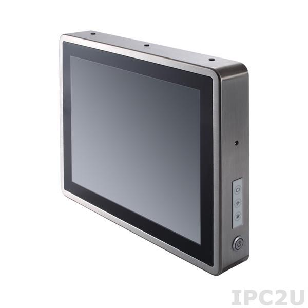 """GOT-815-834-R-DC Защищенный безвентиляторный панельный компьютер, корпус IP66, 15"""" XGA дисплей 420 нит, резистивный сенсорный экран, Intel Atom E3827 1.75ГГц, 1x204-pin DDR3L, 1x2.5"""" SSD, 1xCF слот, 2xCOM, 2xUSB 2.0, 1xGbe LAN, 2xPCle Mini Card, питание 9-36В DC"""