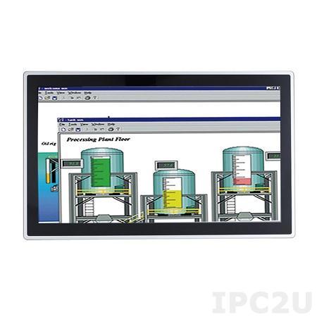 """GOT-315WL-845-PCT-DC Безвентиляторный панельный компьютер 15.6"""" WXGA, Intel Pentium N3710 1.6 кГц, 1x204-pin SO-DIMM DDR3L 1333/1600 MГц, емкостный сенсорный экран, 1x 2.5"""" SATA HDD, 1xmSATA, 2xCOM, 4xUSB, VGA, 2xfull size PCIe Mini Card, 2xLAN, питание 24 В DC"""