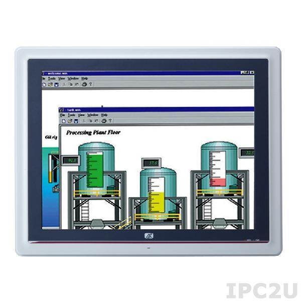 "GOT-5152T-834-J Безвентиляторный панельный компьютер, 15"" XGA дисплей, резистивный экран, Intel Celeron J1900 2 Ггц, 1x204-pin DDR3L-1333, отсек 2.5"" SATA HDD, 1xCF, 3xCOM, 4xUSB, 2xLAN, Audio, 1xVGA, 2xPCle Mini, адаптер питания 100-240В AC DC 60Вт"