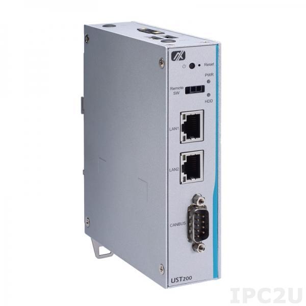 UST200-83H-FL-E3930-COMTVDC Безвентиляторный встраиваемый компьютер с Intel Atom x5-E3930 1.3ГГц, DDR3L, VGA, 2xGbE LAN, 1xCOM, 2xUSB 2.0, DIO, PCIe Mini, mSATA, питание 12/24В DC c Axiomtek Smart Ignition