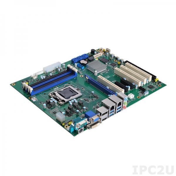 IMB525RVDHGGA-C246 Процессорная плата ATX Socket LGA1151 9/8-го поколения Intel Core i7/i5/i3/Celeron, Intel C246, DDR4, DVI-D, HDMI, VGA, DP, 2xGbE LAN, 6xCOM, 6xUSB 3.1, 7xUSB 2.0, 6xSATA-600 (RAID 0/1/5/10), Audio, 1xPCIe x16, 2xPCIe x4, 4xPCI