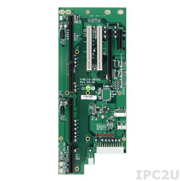 FAB110-5B1P2-RC Объединительная плата PICMG 1.3, 5 слотов, 1xPICMG 1.3/1xPCIe x4/1xPCIe x16/2xPCI