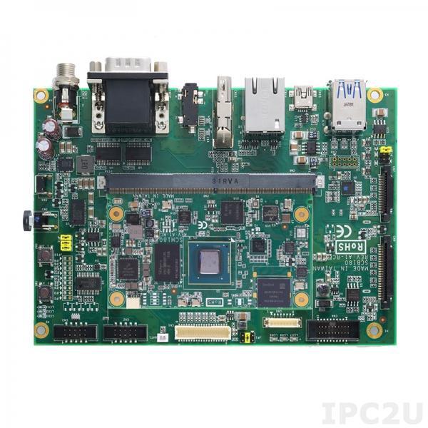 SCM180-180-EVK-Quad-C Базовая плата SMARC v2.0 SoM для установки процессорной платы SCM180, 1Гб RAM, 8Гб eMMC, CAN, MIPI CSI/DSI, HDMI 2.0