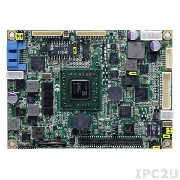 PICO121VGA-210JA w/acc Процессорная плата Pico-ITX с процессором AMD GX-210JA 1ГГц, DDR3, VGA/LVDS, Gigabit Ethernet, 4xUSB 2.0, SATA III, Audio, с аксессуарами AX93277, AX93267, радиатор, кабели, -20...+70C