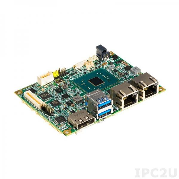 PICO318PGGA-N3350 Процессорная плата Pico-ITX, Intel Celeron N3350 1.1-2.4ГГц, 1x204-pin DDR3L-1867 SO-DIMM, DP/LVDS, 2xGbE LAN, 2xCOM, 2xUSB 3.0, 2xUSB 2.0, SMBus, I2C, PCIe Mini, mSATA, M.2 Key B, -20...+60C
