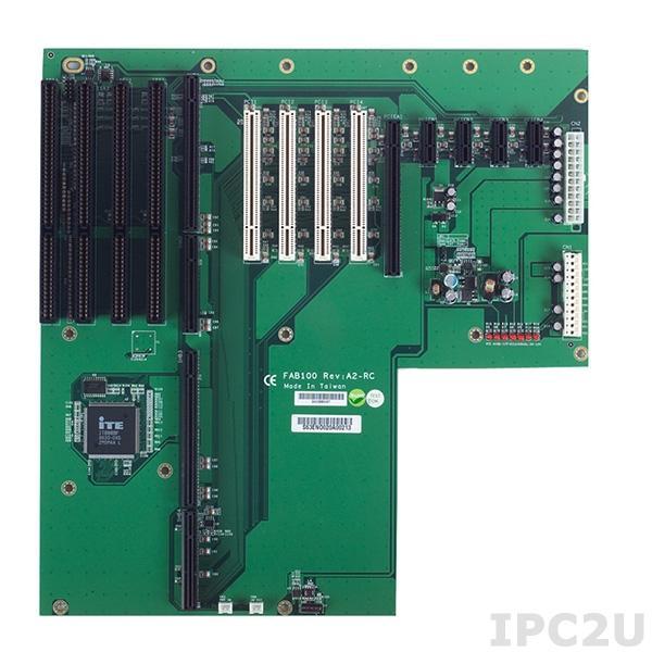 FAB100-RC Объединительная плата PICMG 1.3, 14 слотов, 1xPICMG 1.3, 4xPCI, 4xISA, 1xPCIe x16, 4xPCIe x1