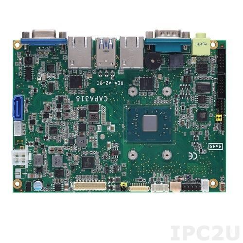 "CAPA318VGGA-N3350 Процессорная плата формата 3.5"" с Intel Celeron N3350 2.4ГГц, 1xDDR3L SO-DIMM, VGA/LVDS, 2xLAN, 2xCOM, 4xUSB, Audio, -20C..+70C"
