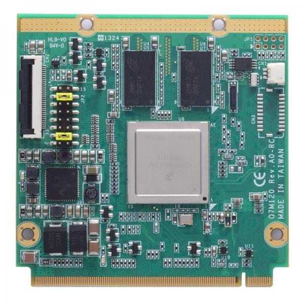 Q7M120-Quad-I Процессорная плата Q7 v2.0 с процессором Freescale iMX6 Quad 800МГц, 1Гб RAM, 4Гб eMMC, HDMI, LVDS, TTL, 1xGbE LAN, 4xCOM, 1xCAN, 1xUSB 2.0, 3xI2C, Audio, SATA, PCIe x1, -40...+85C, 5VDC