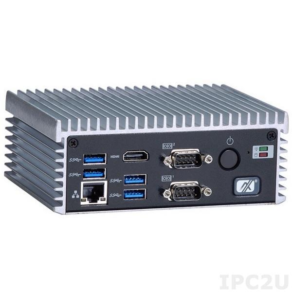 """eBOX560-300-FL-N3710-EU Встраиваемый компьютер с Intel Pentium N3710 1.6ГГц, DDR3L RAM, 2xHDMI, 2xGbE LAN, 2xCOM, 4xUSB 3.0, отсек для 1x 2.5"""" SATA HDD, 1x mSATA, 1x Mini-PCIe, АC-DC 60Вт адаптер питания"""