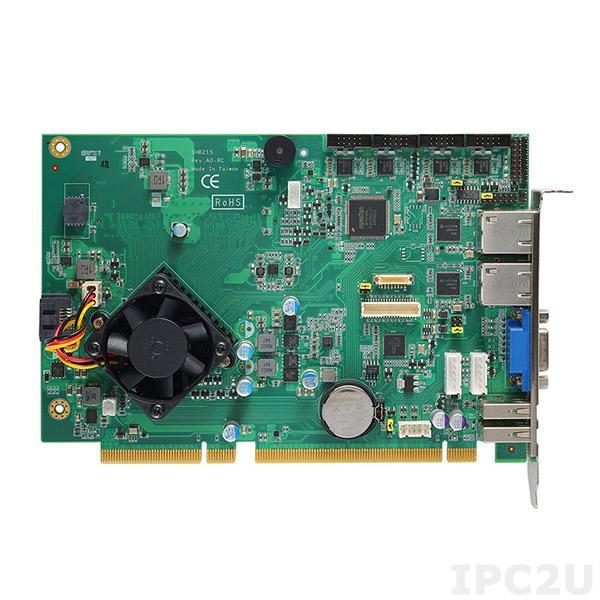SHB215VGG Процессорная плата Half-size PICMG 1.3, Intel Celeron J1900 2.0ГГц, 1x204-pin DDR3L-1333/1600, 1xSATA-300, 1xCFast, 4xCOM, 2xUSB 2.0, 2xGbE LAN, VGA, PS2, 1xPCIe x16, 1xPCIe x4