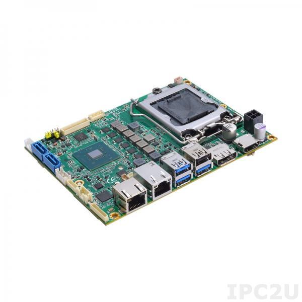 """CAPA520PH3G-Q370-ZIO Процессорная плата формата 3.5"""" с сокетом LGA1151 для 8th/9th gen Intel Core i7/i5/i3, чипсет Intel Q370, DP/HDMI/LVDS, 3xGB LAN, 1xCOM, 3xUSB 3.0, 3xUSB 2.0, 2xSATA-600, DIO, MiniPCIe, Audio, ZIO разъем"""