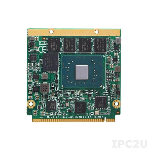 Q7M311PG-N4200-4G Процессорная плата Q7 с процессором Intel Pentium N4200, 4Гб RAM, DDI/LVDS, GB LAN, COM, 2xUSB 3.0, 4xUSB 2.0, 2xSATA-600, GPIO, SMBus, -20...+70C