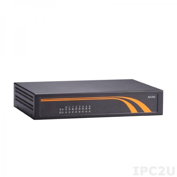 "NA345-D6GI-N4200-USw/2LBP&HDMI Компактная 1U платформа для систем сетевой безопасности с Intel Pentium N4200, DDR3L, 6xGbE LAN, 2.5"" SATA, mSATA, 1xRS-232, 2xUSB 2.0, MiniPCIe, 2x LAN Bypass, HDMI"