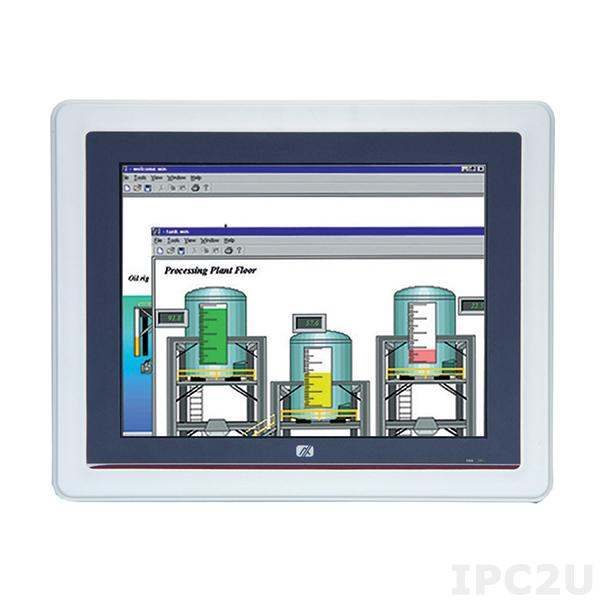 "GOT-5100T-834-XGA Безвентиляторный панельный компьютер, 10.4"" XGA дисплей, резистивный экран, Intel Celeron J1900 4C 2Ггц, 1x слот DDR3L SO-DIMM, отсек 2.5"" SATA HDD, CFast, 2xCOM, 2xUSB 2.0, 2xUSB 3.0, 2xLAN, Audio, 2x PCle Mini Card, питание 9-36В DC"