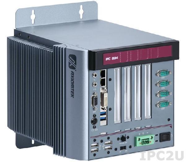 IPC934-230-FL-DC-HAB105 Многослотовый встраиваемый компьютер с Intel Core i7/ i5/ i3, до 3.3 ГГц, Intel Q87 чипсет, 2xPCI, 1xPCIe x1, 1xPCIe x16, ATX DC-IN 150Вт P/S, 10...30VDC