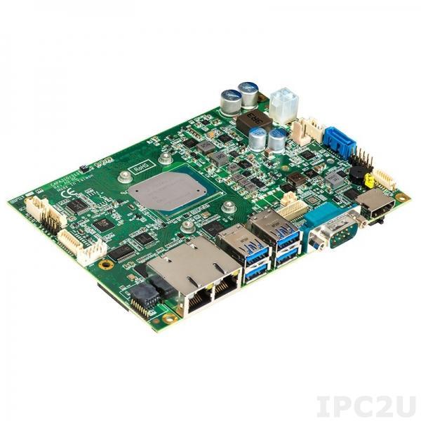 """CAPA310HGGA-E3940-ZIO Процессорная плата формата 3.5"""", Intel Atom x5-E3940 1.6ГГц, DDR3L, HDMI/LVDS, 2xGbE LAN, 2xCOM, 4xUSB 3.0, 2xUSB 2.0, mSATA, 1xSATA 600, 1xMini PCIe, ZIO (1xUSB, 1xPCIe x1, 1xLPC, 1xSMBus), Audio, -40C..+80C"""