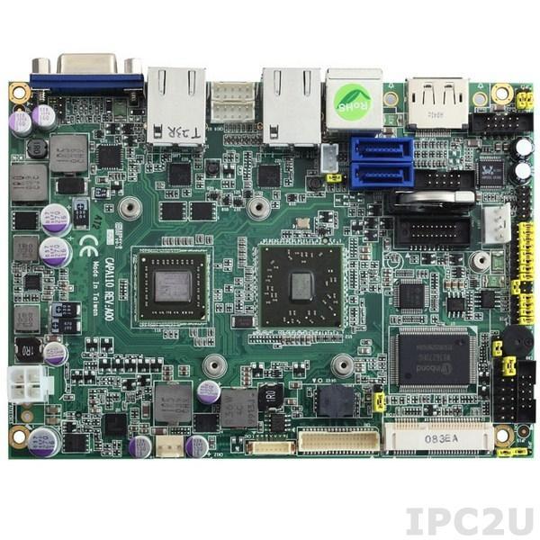 "CAPA110VPGGA-T56N Процессорная плата формата 3.5"" с AMD APU G-Series T56N 1.65 ГГц, чипсет A50M, DDR3, LVDS/DisplayPort/VGA, 2xLAN, 4xCOM, 6xUSB, Audio"
