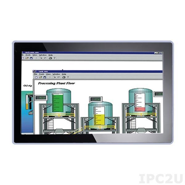 "GOT-318WL-845-PCT-DC Безвентиляторный панельный компьютер 18.5"" WXGA, Intel Pentium N3710 1.6ГГц, 1x204-pin DDR3L 1333/1600 MГц, емкостной сенсор, 1x 2.5"" SATA HDD, 1xmSATA, 1xCFast, 2xGbE LAN, 2xCOM, 4xUSB, 2xPCIe Mini, Аудио, питание 24В DC"