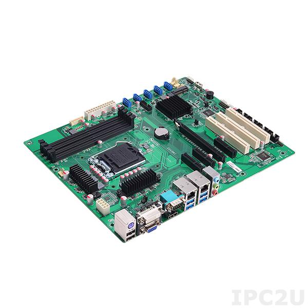 IMB502 Процессорная плата ATX Socket LGA1151 Intel Core i7/i5/i3/Celeron, Intel Q170, 4x288-pin DIMM DDR4, 6xCOM, 6xUSB 3.0, 7xUSB 2.0, 2xGbE LAN, DVI-D, HDMI, VGA, 6xSATA-600 (RAID 0/1/5/10), 1xPCIe x16, 3xPCIE x4, 3xPCI