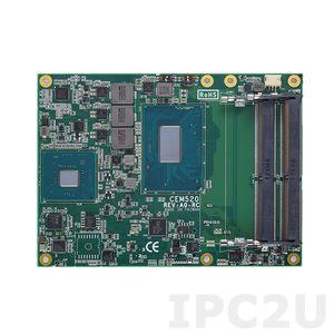 CEM520-i5-8400H+QM370 Процессорная плата COM Express Type 6 с Intel Core i5-8400H, чипсет QM370, DDR4, DDI/LVDS, GbE LAN, 4xUSB 3.0, 8xUSB 2.0, TPM, 4xSATA-600, 1xPCIe x16, 8xPCIe x1, GPIO