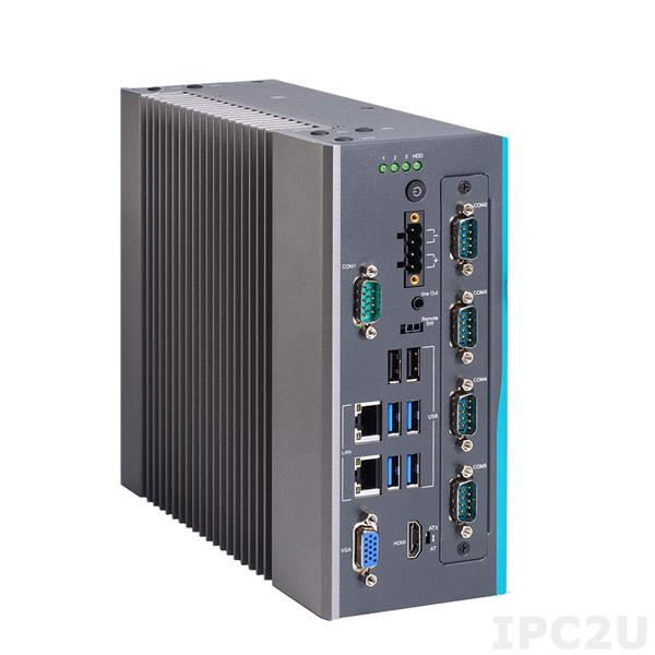 IPC960-525-N-DC-H310 Безвентиляторный встраиваемый компьютер с поддержкой Intel Core i7/ i5/ i3 9th/8th gen, Intel H310, DDR4, HDMI, VGA, 2xGbE LAN, 1xCOM, 4xUSB 3.1, 3xUSB 2.0, 1 x PCI Express Mini полноразмерная, 24VDC