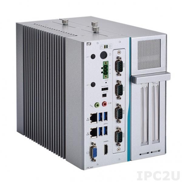 IPC962-511-DC-FL-4C2PCI Многослотовый встраиваемый компьютер с Intel Core i7/ i5/ i3 6th/7th gen, Intel H110, DDR4, HDMI, VGA, модуль 4xCOM AX93511 установлен, 4xUSB 3.0, 1 x PCI Express Mini полноразмерная, модуль AX96207 2xPCI установлен, 24VDC
