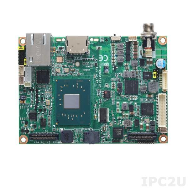PICO312VG-N3350 Процессорная плата Pico-ITX, Intel Celeron N3350,1x204-pin DDR3L-1867 SO-DIMM 8Гб, 2xPCI, 1xLPC, 1xDDI, 1xSATA-600, 1xLVDS, 1xHDMI, 1xVGA, 4xUSB 3.0, 1xUSB 2.0, 1xLAN, 1xHD Audio, 1xSMBus, -20...+70C