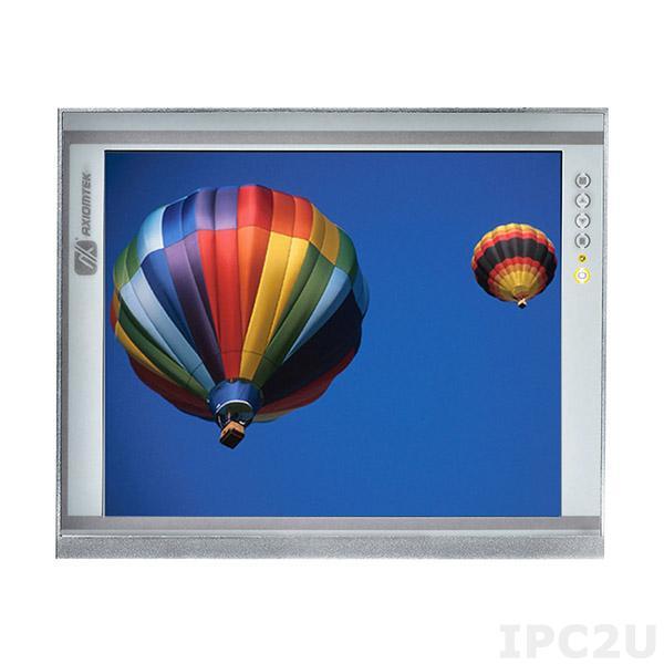 """P6171PR-24VDC-U-E 17"""" TFT LCD LED монитор, 1280x1024, яркость 250 нит, резистивный сенсорный экран (USB), VGA, DVI-D, HDMI, питание 12-24В DC, рабочая температура от -20C"""
