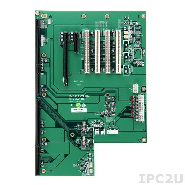 FAB111-7B1P4-RC Объединительная плата PICMG 1.3, 7 слотов, 1xPICMG 1.3, 1xPCIex4, 4xPCI , 1xPCIex16