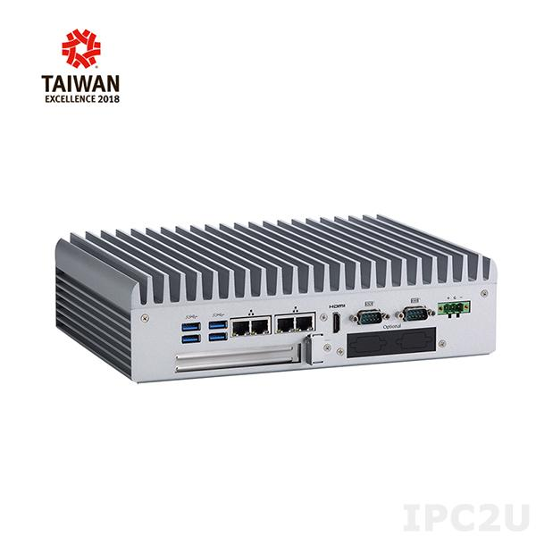 "eBOX700-891-FL Встраиваемый компьютер,чипсет H110, 6/7 поколение Intel Core i7/i5/i3,Intel Celeron2xDDR4-2133 до 32ГБ, 1x2.5"" SSD/HDD, 2xCOM, 2xHDMI, 1xDisplayPort, 1xAudio, 4xGbE LAN, 6xUSB, 1xPCIex4, 2xPCI Mini Card, 1x, 1xmSATA"