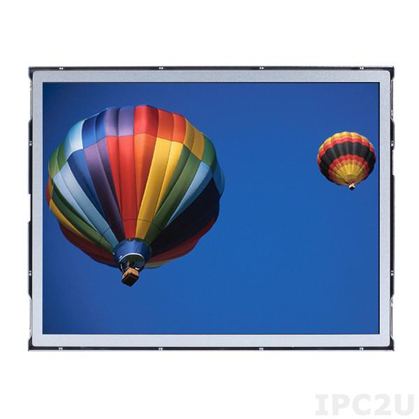 "P6171ON-24VDC-V2 Бескорпусной 17"" TFT LCD LED монитор, 1280x1024, яркость 250 нит, VGA, DVI-D, HDMI, питание 24В DC"