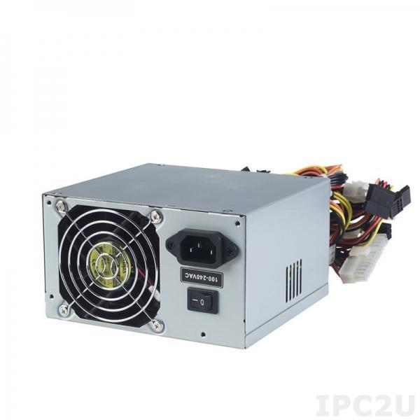 PS500-XP2 Резервируемый PS/2*2 источник питания ATX переменного тока, вход 90...265В, 500Вт, PFC