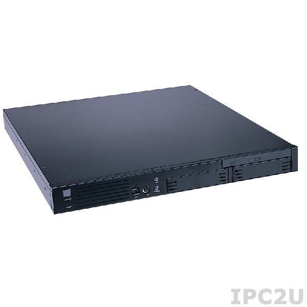 "AX61120TP/X270P-FAB102 Промышленный корпус 1U с разъемами на передней панели, 2x3.5"" HDD, Slim 5.25"", FAB-102, источник питания 270Вт, PFC"