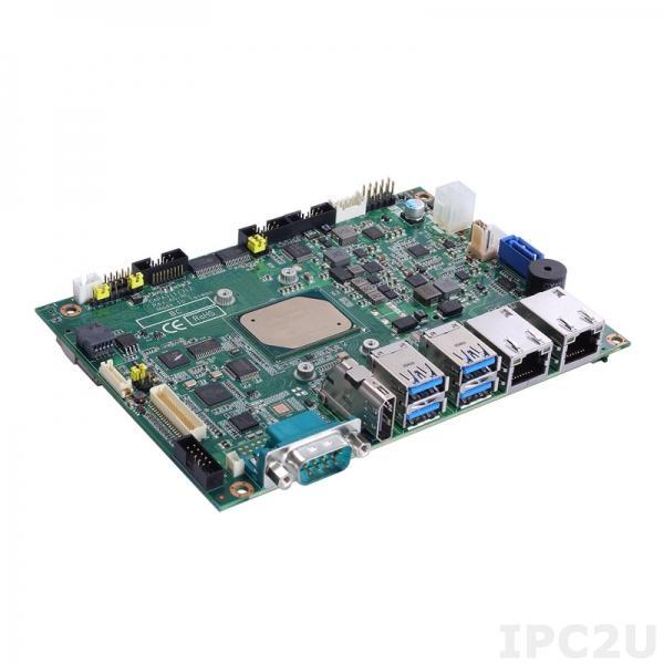 "CAPA311HGGA-E3940 Процессорная плата формата 3.5"", Intel Atom x5-E3940 1.6ГГц, DDR3L, HDMI/LVDS, 2xGbE LAN, 4xCOM, 4xUSB 3.0, 2xUSB 2.0, mSATA, 1xSATA 600, 2xMini PCIe, SIM, DIO, Audio, -40C..+80C"