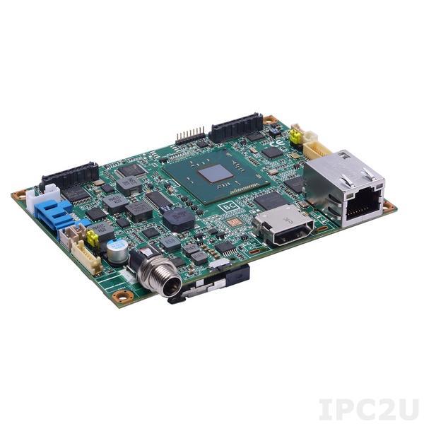 PICO300VGA-N3060 Процессорная плата Pico-ITX с процессором Intel Celeron N3060 1.6-2.48ГГц, VGA/LVDS, Gigabit Ethernet, 1xUSB 2.0, Audio, 1xSATA-600, SMBus, с радиатором охлаждения и кабелями